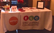 Early Learning Collaborative set up a table at the Teatro SEA to provide children with bilingual learning tools.