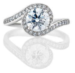 De Beers Caress Engagement Ring