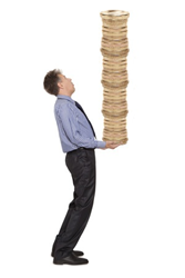 Image credit: <a href='http://www.123rf.com/photo_24398535_businessman-holding-a-stack-of-golden-coins-isolated-on-white.html'>andreyuu / 123RF Stock Photo</a>