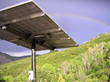 Rainbow over Solar Pole Mount