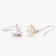 Snowdrop earrings, snowdrop flowers, silver snowdrop, brian de staic, celtic promise