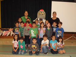 Willy the Walrus at Stuart Place Elementary doing his dental education thing