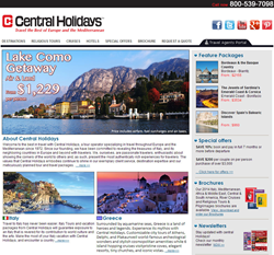 Travel Company Central Holidays Website