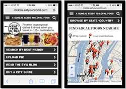 Eat Your World's new mobile site
