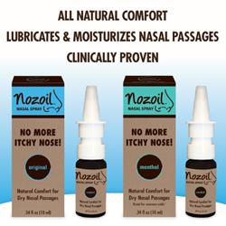 Nozoil® Nasal Spray in Original and Menthol