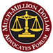 Morgantown WV lawyer Jeff Robinette is a lifetime member of the Multi-million Dollar Advocates Forum, whose membership is limited to those attorneys obtaining multi-million dollar results for their clients.