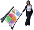 MyPlate on A-Frame with wheels Dry Erase Board