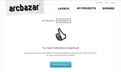 Arcbazar Referral page