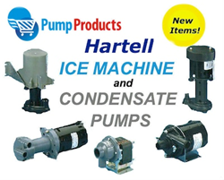 Pump Products Now Stocks Hartell Ice Machine & Condensate Pumps