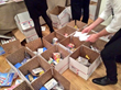 military care packages - packing