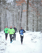A snowy Traverse City Trail Running Festival in 2013.