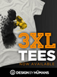 Design By Humans Introduces 3XL Graphic T-Shirts For Men