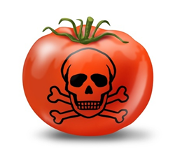 Image credit: <a href='http://www.123rf.com/photo_10976365_contaminated-food-poisoning-symbol-represented-with-a-tomato-and-skull-and-bones-showing-the-concept.html'>lightwise / 123RF Stock Photo</a>
