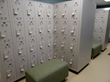 The lockers contain recycled content and stand up to wear and tear.