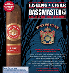 cigars, punch cigars, bassmaster, angler of the year, contest, punch rare corojo