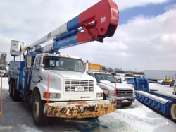 Charlotte, MI Public Auction. No Reserve! Bucket Trucks, Digger Derricks, Pickups and More