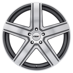 Alloy Wheels by TSW - the Regis in Gunmetal with a Mirror cut face