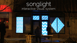 Songlight - Interactive Visual Piano System by Chicago Projeciton Mapping