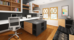 "Design entry by Mihaela Staykova, Bulgaria for the ""Modern Home Office"" design contest on Arcbazar"