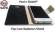 iPhone 5 Inside RF Safe's Flip Case with Peel n Shield™ Flip Cover Shield