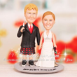 Bow Hunting & Roller Skate Theme Scottish Cake Toppers