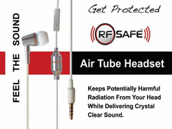 RF Safe Air-Tube Headset Protects The Brain From Cell Phone Radiation