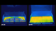 Infrared image of gas grill with and without GrillGrates