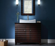 "V-WAVE-42DE - WAVE Bathroom Vanity - 42"" Dark Espresso - Xylem"
