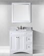 Virtu USA 36 Inch Elise Single Sink Bathroom Vanity ES-32036-WMSQ-AWH-001