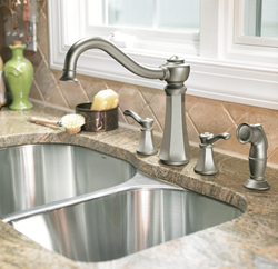 moen 7068 double handle kitchen faucet from the vestige collection