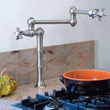 rohl a1452x-2 lead free compliant deck or island mounted swing arm pot filler from the rohl country kitchen series