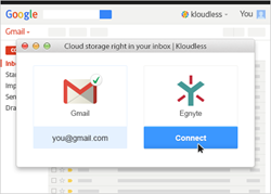 Get Egnyte in your email inbox with Kloudless