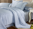 Sky Blue Silk Bedding Set 22MM