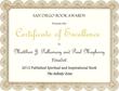 San Diego Book Award Finalist