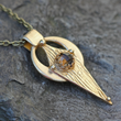 Smoky Quartz & Bronze Artifact Amulet Necklace by Kathryn Designs