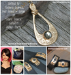 Bronze & Pyrite Teardrop Necklace by Kathryn Designs