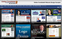 Online Candidate Sample Campaign Websites
