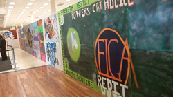 HS Graffiti Art Contest sponsored by ELGA Credit Union on display in the Flint Branch