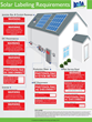 Solar Labeling Requirements Infographic