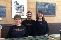Left to right: Muffin Simpson, Events Manager; Jack Gorman, Tasting Room Manager; Kelsey Mort, Tasting Room Associate