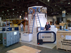 Veyance Technologies Inc./Goodyear exhibit at Con Expo/ Con Agg 2014 being built