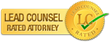 Jeff Robinette, Morgantown WV Personal Injury Attorney is awarded the Lead Counsel Rating