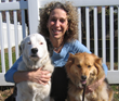 Dr. Marcie Fallek and her two healthy happy dogs, Destiny and Savannah