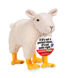 "Standard®  TPMS Sensors ""If it's not a perfect clone"" Plush Toy Sheep & Hang Tag Premium"