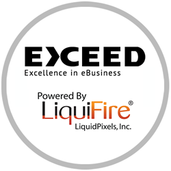 Exceed Online eCommerce and LiquidPixels LiquiFire Dynamic Imaging logo
