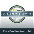 Entry Deadline for PR News' PR Agency Elite Awards is Friday, March 14