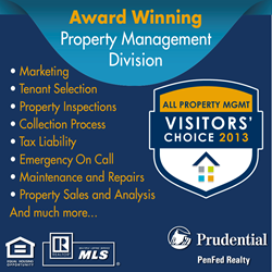 Prudential PenFed Realty Announces 2013 Visitors' Choice Award From All Property Management