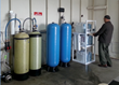 Big L System with LINX Systems, with portable exchange softeners, a pressure pump, enclosed pressurized storage vessels, and a UV disinfection system.