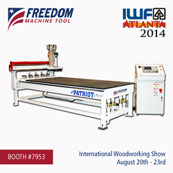 DMS CNC Routers and Freedom Machine Tool to Exhibit at IWF Atlanta 2014