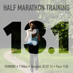 FitSnap Picture Created with Half Marathon Theme